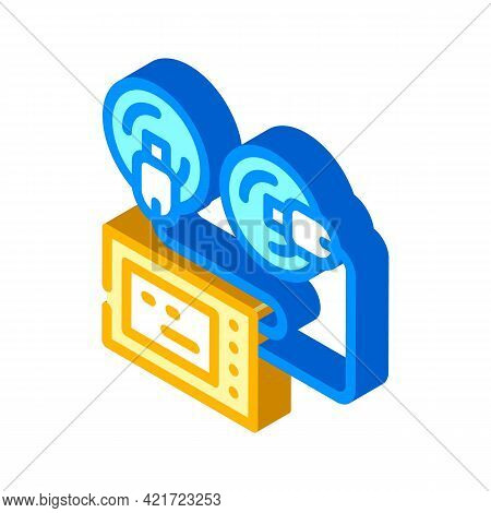 Stimulator With Suction Cups Isometric Icon Vector. Stimulator With Suction Cups Sign. Isolated Symb