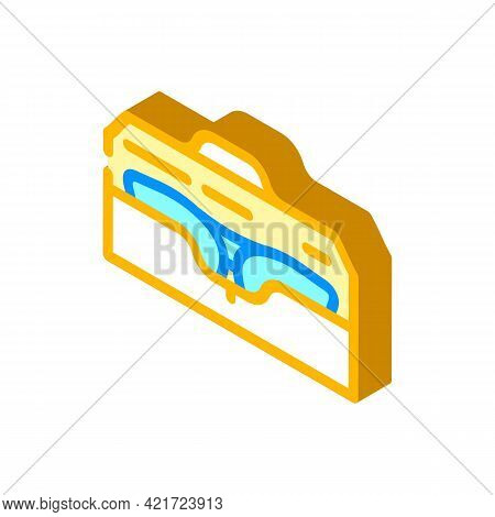 Case For Glasses Isometric Icon Vector. Case For Glasses Sign. Isolated Symbol Illustration