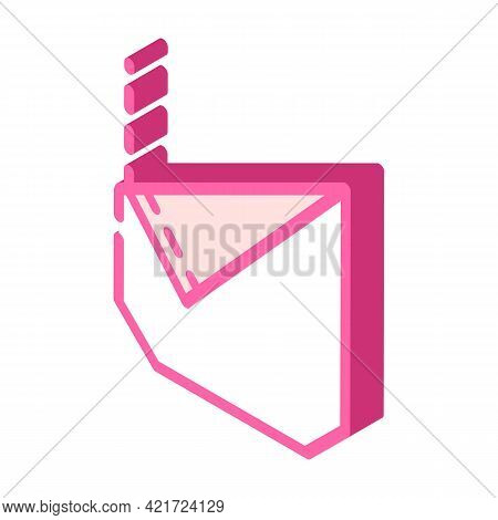 Ripped Pocket Isometric Icon Vector. Ripped Pocket Sign. Isolated Symbol Illustration