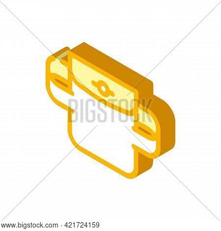 Elastic Pocket Isometric Icon Vector. Elastic Pocket Sign. Isolated Symbol Illustration