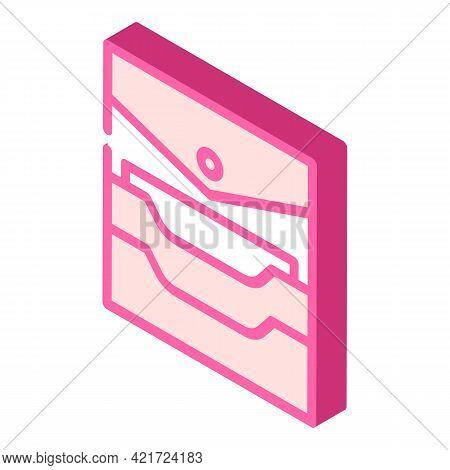 Credit Card Storage Pocket Isometric Icon Vector. Credit Card Storage Pocket Sign. Isolated Symbol I
