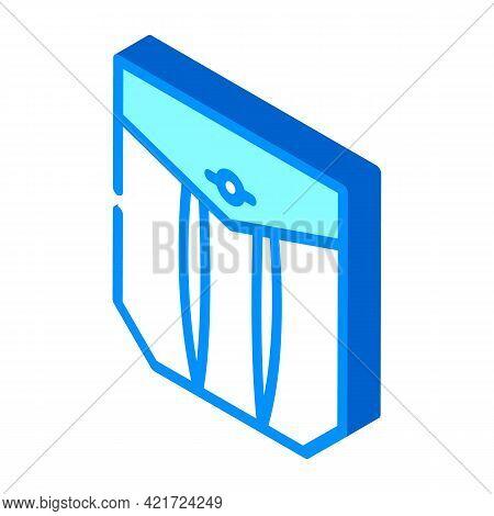 Pleated Pocket Isometric Icon Vector. Pleated Pocket Sign. Isolated Symbol Illustration