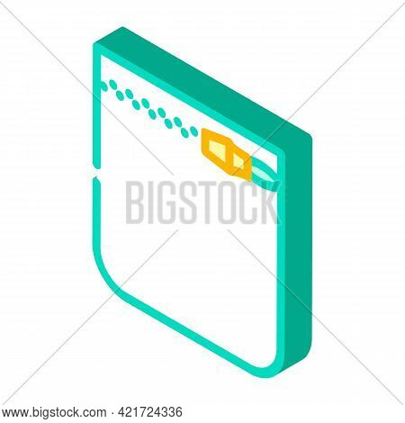 Coins Storage Pocket Isometric Icon Vector. Coins Storage Pocket Sign. Isolated Symbol Illustration