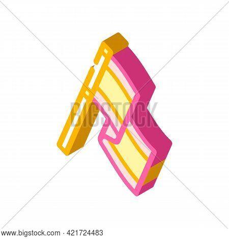 Flag Spain Isometric Icon Vector. Flag Spain Sign. Isolated Symbol Illustration