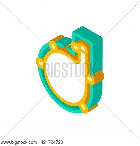 Wineskin Spain Isometric Icon Vector. Wineskin Spain Sign. Isolated Symbol Illustration