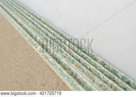 Sheets Of Moisture Proof Tongue And Groove Chipboard