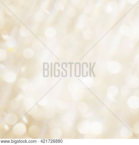 Gold bokeh light textured background illustration