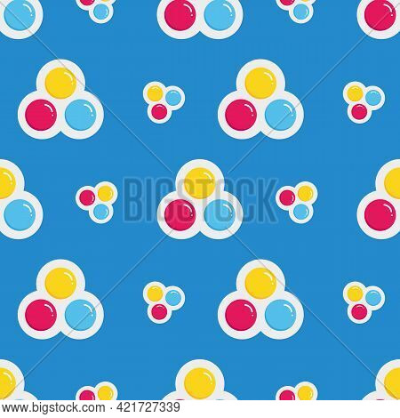 Cute Colorful Cartoon Style Antistress Sensory Toy, Bubble Fidget, Pop It Accessory, Keychain Vector