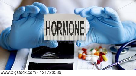 On The Card Text Hormone Therapy, Next To Stethoscope,pils