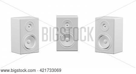 Loudspeaker Mockup On White Background - 3d Render