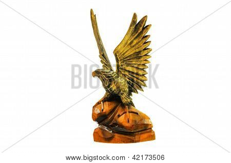 Wooden Figure Of An Eagle.