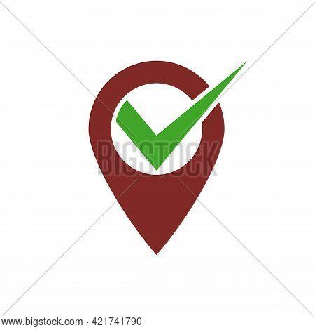 Illustration Vector Graphic Of Logo Check Location
