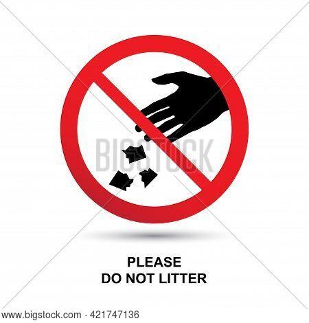 Do Not Litter Sign Vector Illustration Concept