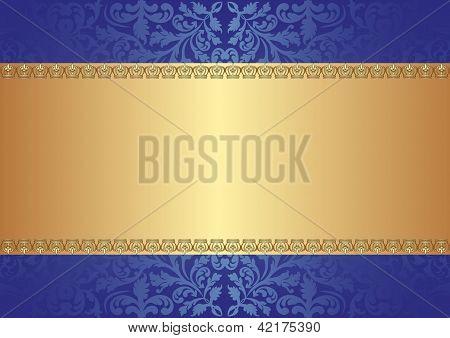 Gold Blue Background