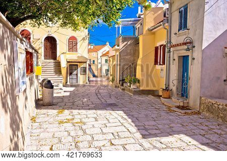 Town Of Baska Colorful Architecture Street View, Krk Island Of Croatia