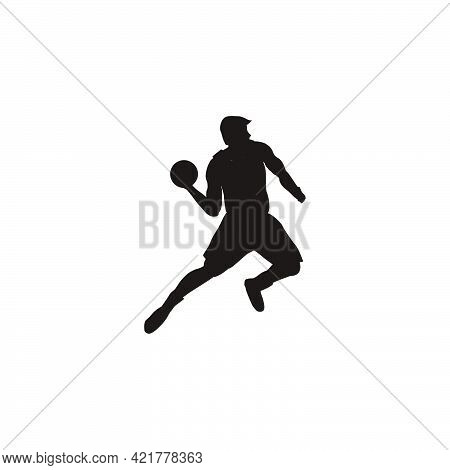 Silhouette Of Man Throwing The Ball On Basket Ball Game - Illustrations Of Basket Ball Player Throwi