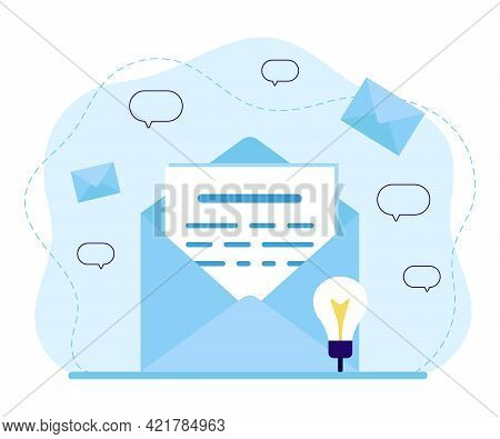 Mail, Email Service, News, Document Or Letter In Envelope With Message And Correspondence Delivery.