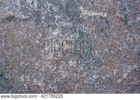 Granite Texture. Close-up Of Gray Granite Surface. Stone Background.