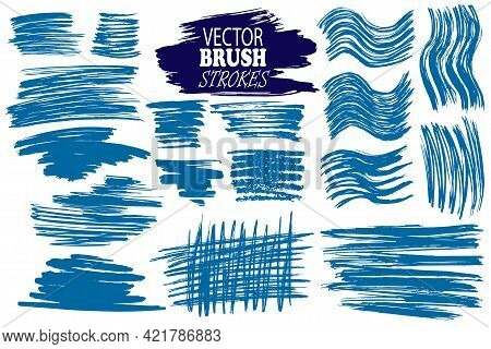Vector Image - Set Of Hand-drawn And Scanned Ink Different Lines, Editable, Can Be Used For Creating