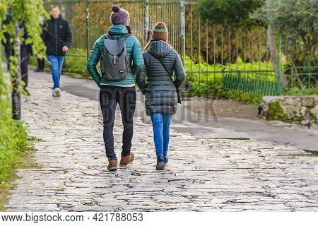 Tourists Walking, Athens, Greece