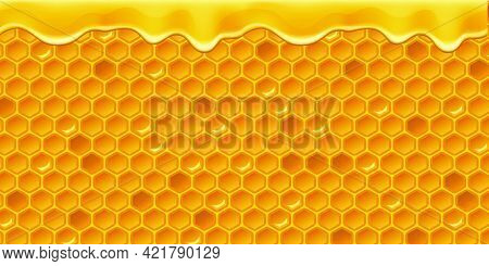 Vector Honey Comb Background Pattern Repeatable - Illustration