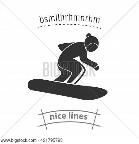 Snowboard Simple Vector Icon. Snowboard Isolated Icon