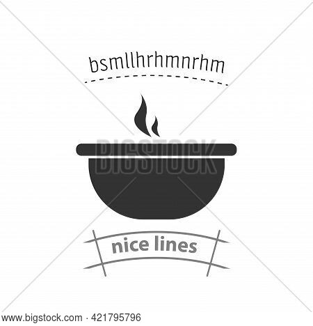 Soup Bowl Simple Vector Icon. Soup Bowl Isolated Icon
