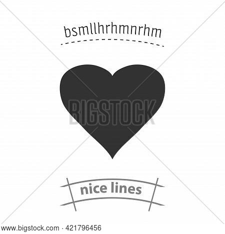 Heart Simple Vector Icon. Heart Isolated Icon