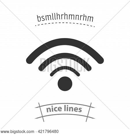 Wi-fi Simple Vector Icon. Wi-fi Isolated Icon