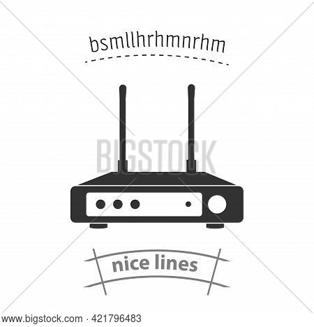 Wi Fi Icon. Wi-fi Router Simple Vector Icon. Wi-fi Router Isolated Icon