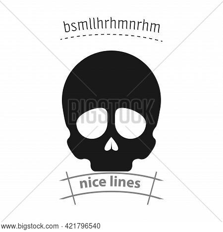 Skull Simple Vector Icon. Skull Isolated Icon