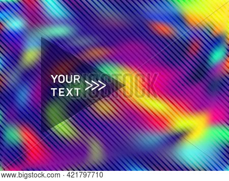 Trendy Presentation Holographic Gradient Vector Template. Abstract Graphic Design Elements.