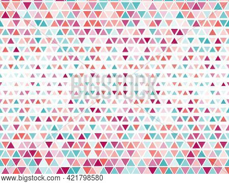Mosaic Triangles Halftone Vector. Fade Triangular Structure Banner Background. Chevron Triangles Hal