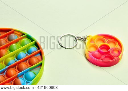 Push pop bubble flexible fidget sensory toy provide discharge and are good for the development of ki