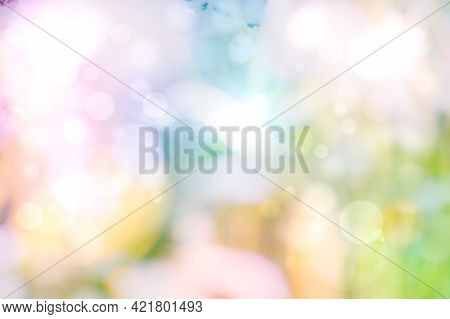 Abstract Colorful Background With Defocused Bokeh Light