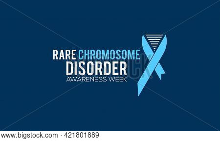Rare Chromosome Disorder Awareness Week Vactor Banner Observed On June Every Year. Awareness Campaig
