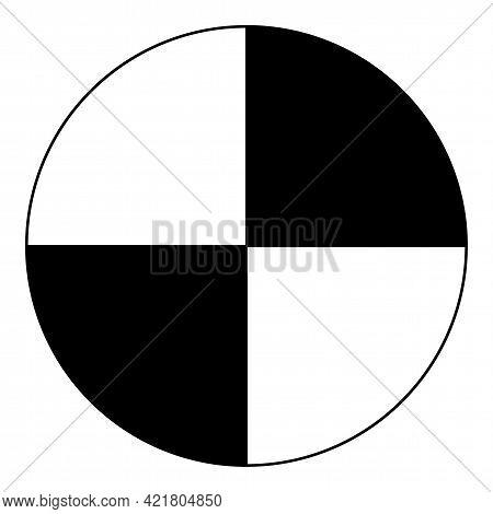Center Of Gravity Symbol Sign On White Background