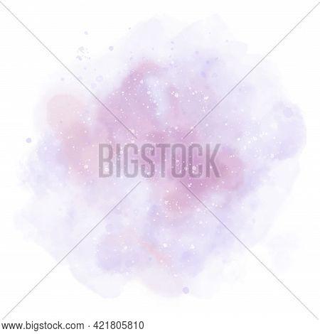 Paint Pink Purple Pastel Background For Art Design, Tag. Pink White Paint Pastel Watercolor Stain El