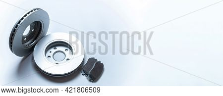 Car Accessories. New Metal Car Part. Auto Motor Mechanic Spare Or Automotive Piece Isolated On White