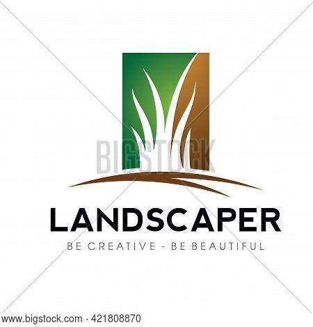 Lawn Care Logo. Lawn Services Logo Design Vector