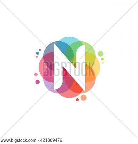 Abstract N Initial Logo Designs Concept Vector, Colorful Letter N Logo Designs
