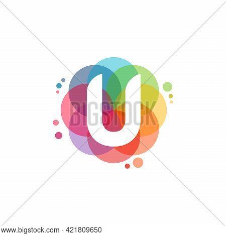 Abstract U Initial Logo Designs Concept Vector, Colorful Letter U Logo Designs