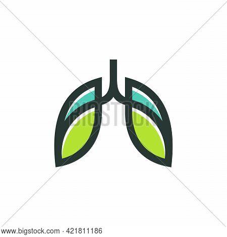 Green Lung Care Logo Designs Vector, Eco Lungs Logo Concept Vector, Lungs Health Logo Template