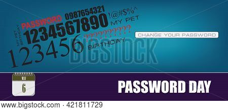 Card For Event May Day Password Day. Change Your Password
