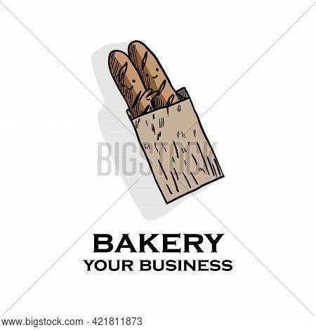 Bakery Design Logo Vector. Illustration Logo Bakery