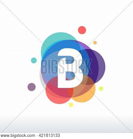 Abstract B Initial Logo Designs Concept Vector, Colorful Letter B Logo Designs