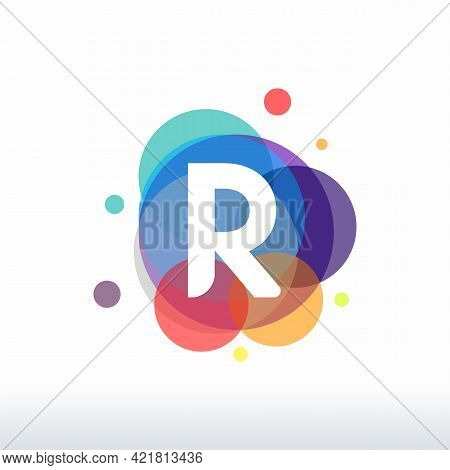 Abstract R Initial Logo Designs Concept Vector, Colorful Letter R Logo Designs