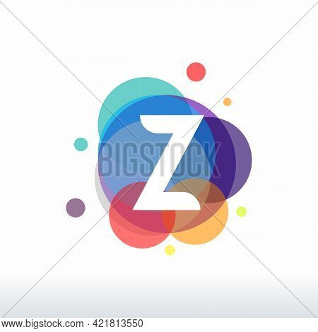 Abstract Z Initial Logo Designs Concept Vector, Colorful Letter Z Logo Designs