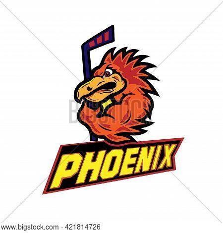 Phoenix  Sport Logo Design. Animal Vector Illustration