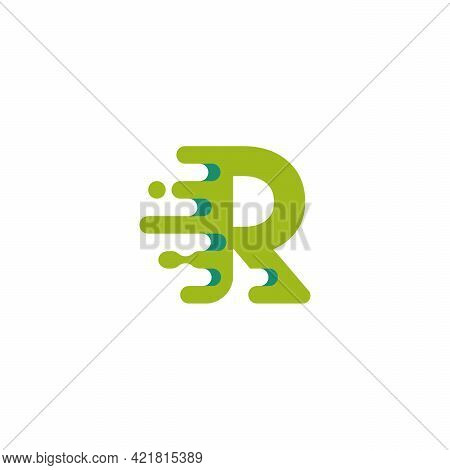 Fast Moving R Initial Logo Vector, Technology Business And Digital Logo Template